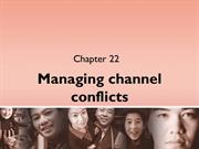 22. Managing channel conflicts
