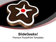FOOD CHOCOLATE COOKIE FOR CELEBRATION PPT TEMPLATE