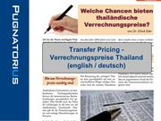 Thai Transfer Pricing Rules