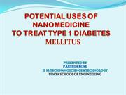 POTENTIAL USES OF N.T TO TREAT D.M