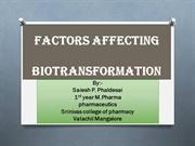factors affecting biotansformation