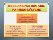 Breeding For Organic Farming Systems