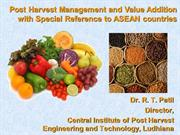 POST HARVEST TECHNOLOGY FOR ASEAN COUNTRIES