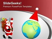 CHRISTIAN CHRISTMAS CELEBRATED GLOBALY WITH HAPPINESS PPT TEMPLATE