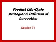 S31 PLC and Diffusion of Innovation