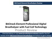 BACtrack Element Professional Breathalyzer Review