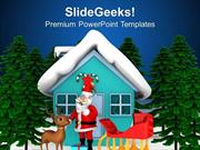 CHRISTIAN SANTA CLAUSE WILL COME THIS CHRISTMAS PPT TEMPLATE 1