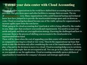 Extend your data center with Cloud Accounting