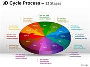 12 STAGES BUSINESS CIRCULAR PROCESS DIAGRAM PLANNING AND DEVELOPMENT