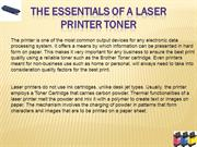 The essentials of a Laser printer Toner www.etoner.com.au