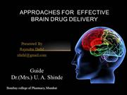Approaches for the effective Brain Drug Delivery