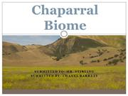 Chaparral Biome  No Audio - Chanel Barrett