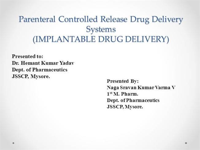 Chien delivery novel drug system pdf by