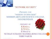 network security modern ppt