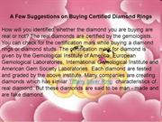 A Few Suggestions on Buying Certified Diamond Rings