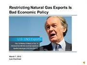 Banning US Natural Gas Exports