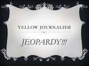 Yellow Journalism Jeopardy