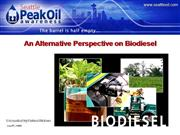An Alternative Perspective on Biodiesel