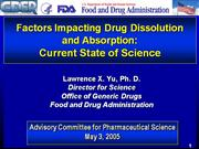 factors effecting drug absorption and dissolution