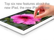 Top six new features about the new iPad