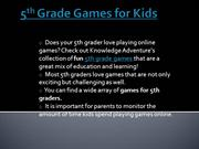 5th Grade Games for Kids