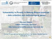 Vulnerability to poverty in the Mekong region countries