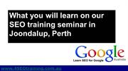 SEO Perth - SEO Training Seminar in Joondalup Perth WA