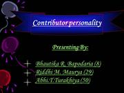 final presentation of contributor personality