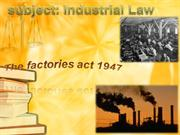 law project factories act 1948