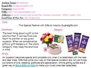 This Special Festival with Gifts to India by Gujaratgifts.com