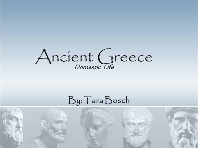 Ancient greece civilization domestic life authorstream toneelgroepblik Choice Image