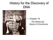 Ch._16__DNA History & Structure