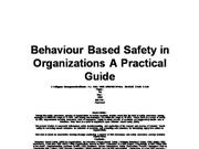 Behaviour Based Safety in Organization