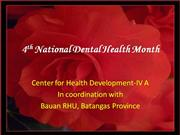 4th National Dental Health Month, 2008