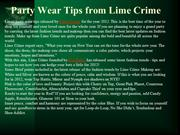 Party Wear Tips from Lime Crime