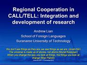 Lian, A-P. (2012). Presentation to AsiaCALL2011 Plenary Symposium