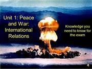 Unit 1 - Cold War Revision Video