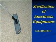 sterilization  of equipments in OR