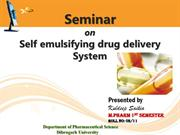 self emulsifying drug delivery system-final