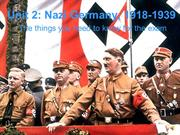 Unit 2 Nazi Germany Revision
