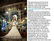 to give some good tips and advice for brides as they plan their bridal
