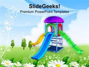 SPORTS GO AND PLAY IN PLAYGROUND THIS SUMMER PPT TEMPLATE