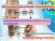 SEO for local listing in florida