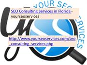 SEO Consulting Services in Florida - yourseoservices