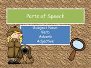 Parts of Speech SN V ADV ADJ Preview