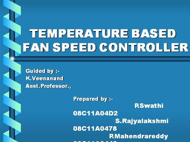 Temperature Based Auutomation of Fan |authorSTREAM