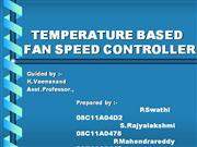 Temperature based auutomation of fan