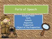 Parts of Speech SN V ADV ADJ P OP Preview