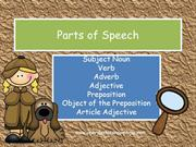 Parts of Speech SN V ADV ADJ P OP AA Preview