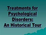 History of Treatment Methods